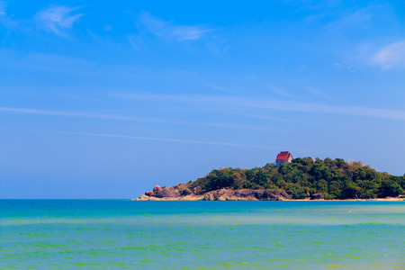 The seaside view of the Temple at Song kla, Thailand. photo