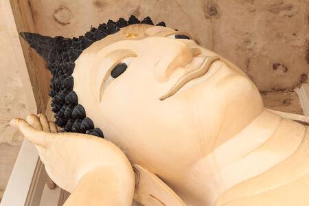 reclining: Reclining Buddha at song kla Stock Photo