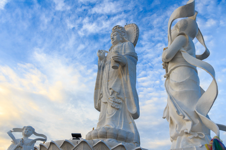 holy jug: Big Standing Guan Yin in Thailand