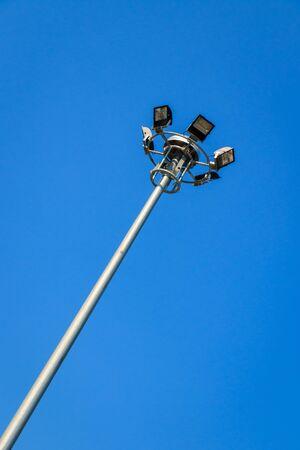 bluesky: Sportlight on blue-sky background Stock Photo
