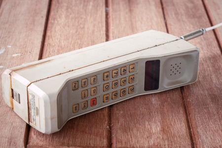 medium shot: vintage mobile phone (vintage style)