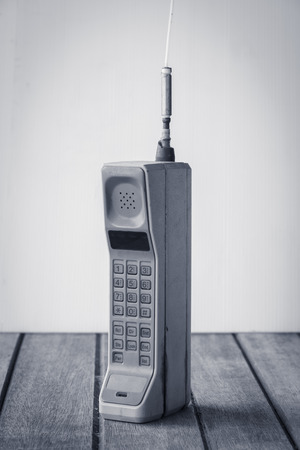 vintage mobiele telefoon (vintage stijl) Stockfoto