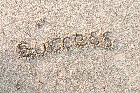 Success schreiben auf Sand am Strand, Business-Konzept