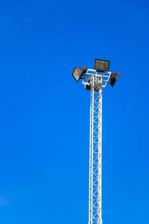 floodlit: Stadium lights