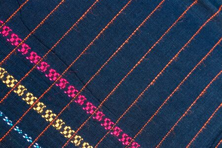 striped background: Abstract texture of Thailand textile