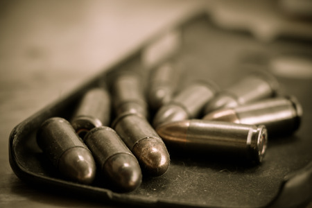 9mm ammo: 9mm bullet for a gun (dark style)