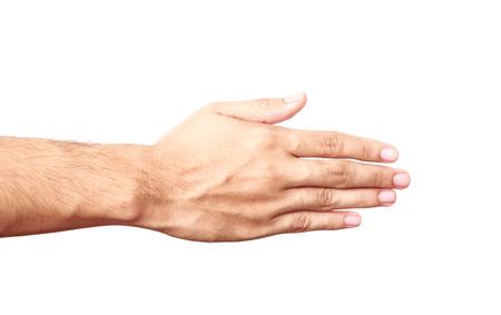 mains nues isolé sur fond blanc Banque d'images - 38883189