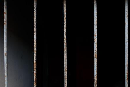 Bar prison close-up
