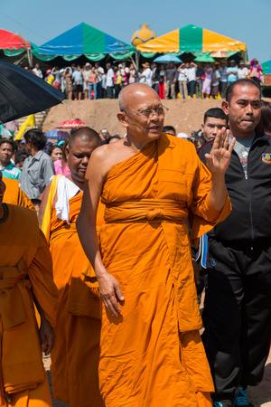 comité d entreprise: Échanges Monk Suthep Thaugsuban voeux avec des gens