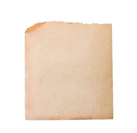 Blatt des alten Papiers getrennt auf einem weißen Hintergrund Standard-Bild - 40341233