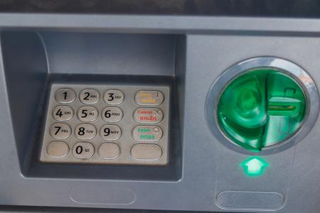 pincode: ATM closeupM closeup