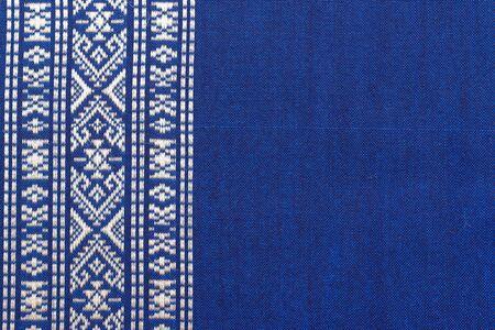 Textuur van Thaise zijde patroon Thailand textiel stijl Stockfoto