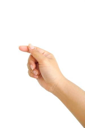 Human hand isolated on white background Reklamní fotografie - 43650333