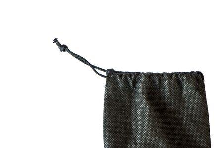 black fabric: black back isolated on white background. Stock Photo