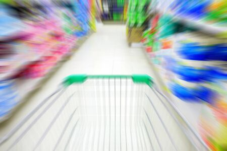 pushcart: Pushcart in department store or super market moving