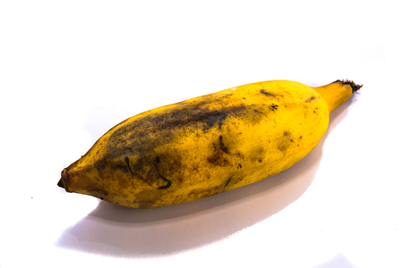stale: Stale banana isolated on white background Stock Photo
