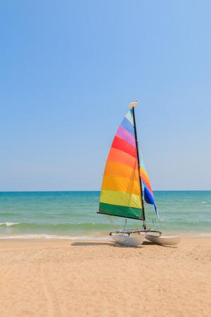 brig ship: yacht boat on the beach