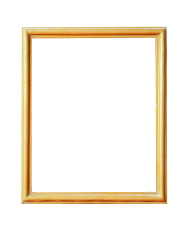 art exhibition: picture frame on white background.