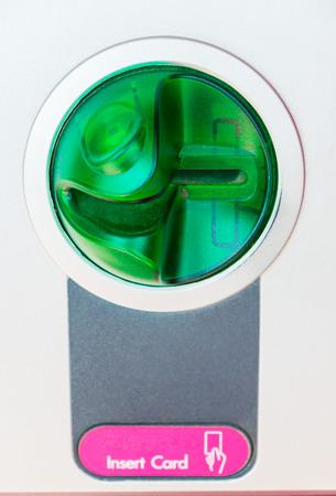 ATM in sert card close-up