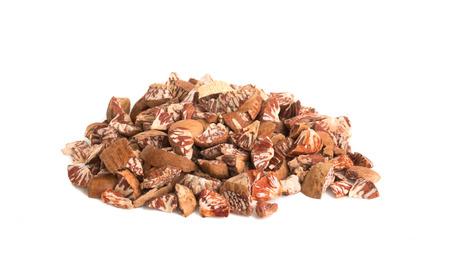 areca: areca nuts slide on white background isolated