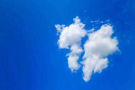 bluesky: Clouds like broken heart on blue-sky