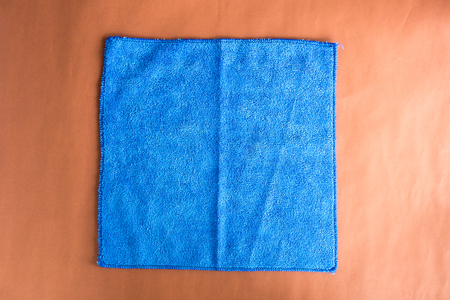 up service: blue microfiber cloth for cleaning the car