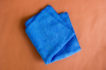 microfiber: blue microfiber cloth for cleaning the car