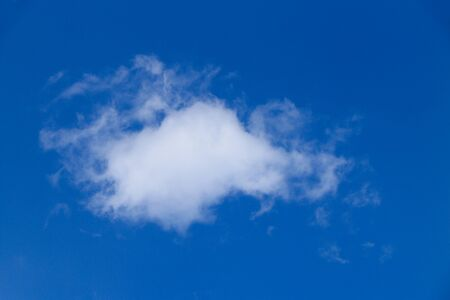 clearly: blue sky and cloud on clearly day Stock Photo