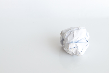 close-up of crumpled paper ball Stock Photo