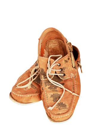 brown: Old brown shoes