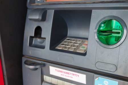 personal identification number: ATM close-up
