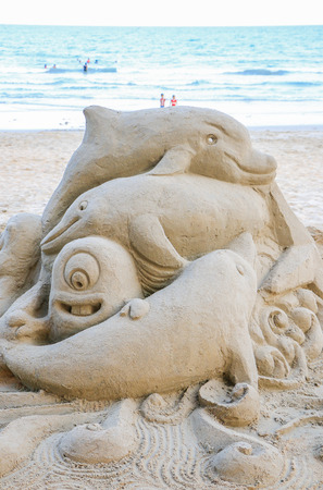 sandcastle: Holiday concept with sandcastle on the seaside