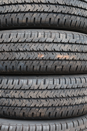 sidewall: Fresh Rubber Tire Stock Photo