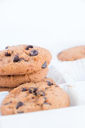 cikolatali: cookies on white background Stock Photo