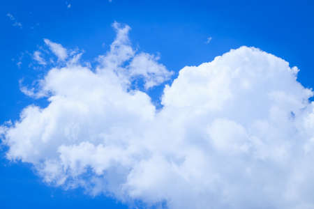 clearly: Blue sky with clouds on clearly day Stock Photo
