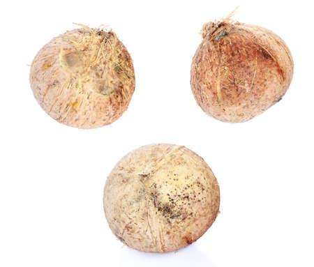 plantae: coconut milk,coconut ,the broken coconut Stock Photo