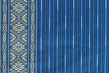 loincloth: Texture of Thai silk pattern, Thailand textile style Stock Photo