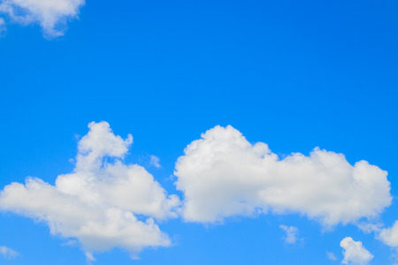 gloaming: white cloud in the blue sky Stock Photo
