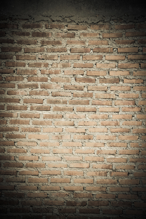 Old grunge brick wall texture or background