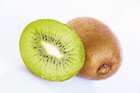 cantle: kiwi fruit slice on white background Stock Photo
