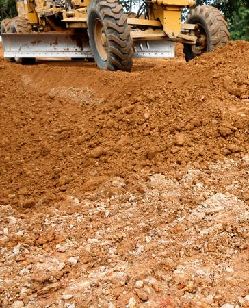 site: Road construction site