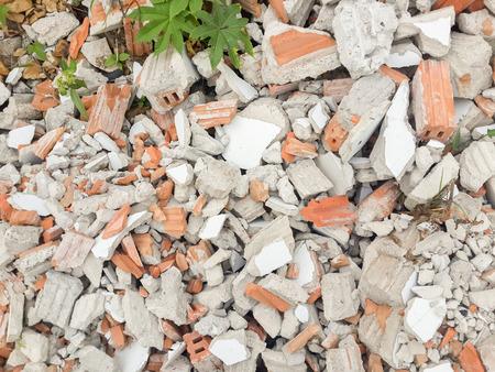 destroy: Destroy home brick. Stock Photo