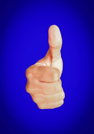 loss leader: Thumbs Up on blue background