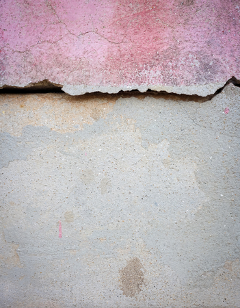 cranny: Crack cement wall background.