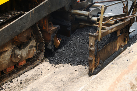 roller compactor: Light Vibration roller compactor at road under construction and repairing asphalt, Road making.