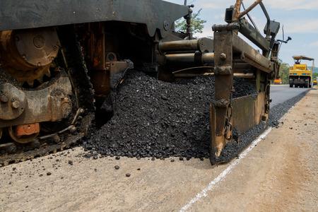 roller compactor: Light Vibration roller compactor at road under construction and repairing asphalt, Road making.