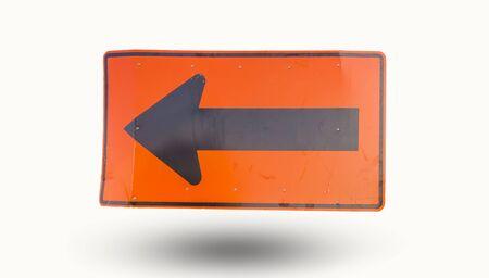 turn left sign: Turn left sign isolated on white background.
