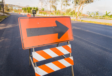 flashers: Highway road under construction