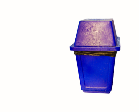 big bin: Blue  garbage bin isolated on white background
