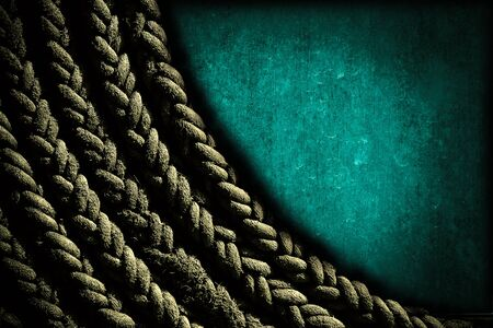 wooden insert: Rope background on grunge wooden texture background, rustic wooden, old wooden, blank wooden dark tone style for insert texts or products on blank wooden.